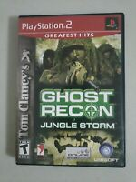 Tom Clancy's Ghost Recon: Jungle Storm (Sony PlayStation 2, Ps2 2004) Complete