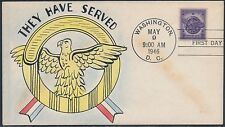 "#940 ON MAE WEIGAND FDC HAND PAINTED ""THEY HAVE SERVE"" CACHET BS2449"