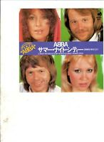 "ABBA Summer Night City JAPAN 7"" w/PS 70s POP"