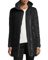 Moncler Womens Aglaia Wool Down Quilted Coat Jacket NWT Size 0 XS Black $1600