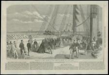 1868 Hampshire EAST Cowes Osborne Bay HMS Galatea REGINA ispezione (228)