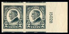 Momen: Us Stamps #611 Pair Mint Og Nh Pse Cert