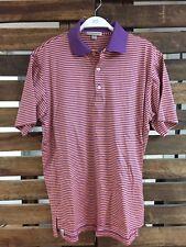 Peter Millar Men's Short Sleeved Striped Polo Golf Shirt Small EUC