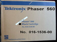 Tektronix PHASER 560 No. 016-1536-00 Nero Carrello GENUINE SIGILLATO Pristine