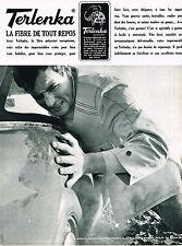 PUBLICITE ADVERTISING  1965   TERLANKA   fibre de tout repos  pret à porter