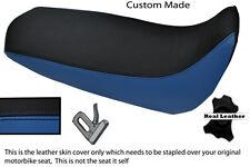 BLACK & BLUE CUSTOM FITS YAMAHA XT 125 R X 05-12 REAL LEATHER SEAT COVER