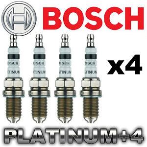 4 x BOSCH Platinum+4 Spark Plug Set > More Power & Mileage!  FAST SHIP Warranty