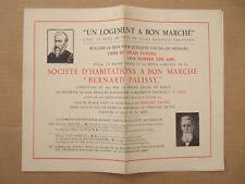 PUBLICITE Sté HABITATIONS A BON MARCHE BERNARD PALISSY à BERCY. LOI LOUCHEUR