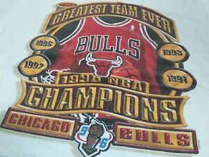 VTG 90s 1996 Finals Chicago Bulls THE GREATEST TEAM EVER Champions T Shirt Large