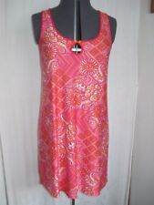 George Poly Multi Colored Sleepwear Red Gown W/ Floral Reg. Size M