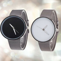 New Fashion Women Men Unisex Watches Metal Mesh Band Quartz Wrist Watch