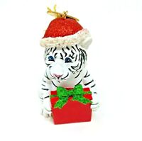 Set Of 4 White Tiger Christmas Tree Ornaments 2020 Funny Novelty Gift Stocking