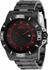 Invicta 48mm Exclusive Pro Diver Triple Black KNIGHT RIDER Red Markers SS Watch
