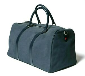 """New w/Tags Napoli Slate Gray Suede Duffle Bag Weekender Carry-on  """"$2800.00"""""""