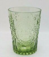 Single Anthropologie Fleur-De-Lys Juice Glass, Green