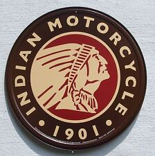 Indian Motorrad USA Händler Klassik Motorcycle Logo Metall Schild