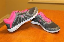 Champion Light Weight Girl's Youth Tennis Shoes Gray/Pink - Size 7 FREE SHIPPING