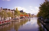 PHOTO  NETHERLANDS LEIDEN 1989 CANAL VIEW WITH CANAL