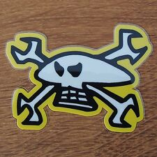 Static Cling Window Sticker Biker Car Isle Of Man TT Guy Martin Skull Spanners