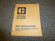 Caterpillar CAT 225 Hydraulic Excavator Owner Operator Maintenance Manual 51U