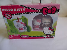 NEW! Super Cute! HELLO KITTY Sanrio Flocked Figures SWING Toy Playset