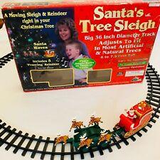 Vintage Take One Santa's Sleigh Ride Train Wraps Around Tree Lights Animated