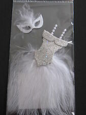 DRESS AND MASK WHITE PARTY  STICKERSL@@K
