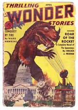 Pulp THRILLING WONDER STORIES April 1940 - Frank R. Paul, Henry Kuttner