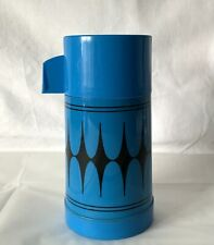 Vintage Blue Aladdin Continental Vacuum Flask Made in England 8oz
