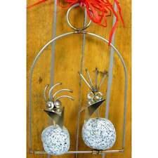 Steinvogel Pärchen SV 330 ca. 25cm zum Hängen aus Granit und Edelstahl