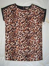 NEW! $89 Gibson Latimer 2X plus size womens dress black brown animal print