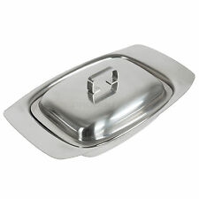 Stainless Steel Butter Dish With Lid Dining Room Serving Restaurant Storage