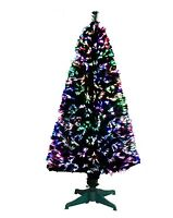 CHRISTMAS TREE GREEN FIBRE OPTIC LED MULTI COLOR CHANGING LIGHTS FREE