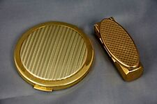Vintage Stratton Powder Compact with Mirror & Lipstick Holder, Both Empty