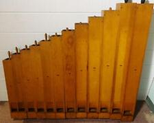 Fabulous Set of Antique Wooden Organ Pipes (12) Ca.1929 Great Decorator Item!