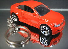 Red 2010 BMW 1 Series M Coupe Key Chain Ring Diecast