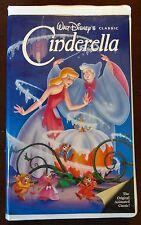 1988 CINDERELLA VHS Movie Walt Disney's Black Diamond Classic #410