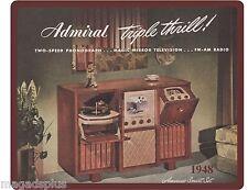 1948 Admiral Portable TV  Refrigerator / Tool Box  Magnet Gift Item