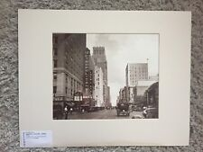 RARE LARGE FORMAT CITY STREETS: Downtown Houston Texas c1935  Silver Toned Photo