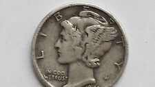 Mercury Dime - Lot of 1 - Visible date, circulated 90% Silver Mercury Dimes