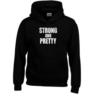Strong and Pretty Hoodie Strongman Gym Exercise MMA UFC Gift Men Sweatshirt Top