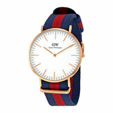 NEW DANIEL WELLINGTON 0102DW CLASSIC OXFORD 40MM WHITE DIAL ROSE GOLD WATCH