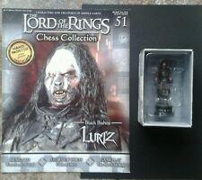 LOTR Chess Collection Series 2 #51 Lurtz Black Bishop MINT inc Magazine
