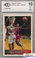 1996/97 Topps #139 Michael Jordan BECKETT 10 MINT Chicago Bulls HOF