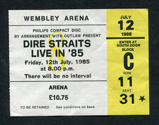 Dire Straits Brothers In Arms Tour Concert Ticket Stub Wembley London Knopfler