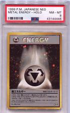 Pokemon 1999 Japanese Neo Metal Energy Holo PSA NEAR MINT - MINT 8!