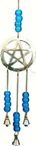 Mobile Pentacle Pentagram IN Bronze Wicca Pagan White 30 CM Length