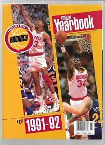 1991-92 Houston Rockets Basketball Yearbook----Olajuwon EX