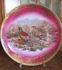 VINTAGE STW BAVARIA BAREUTHER WALDSASSEN GAME BIRD PHEASANT CHARGER PLATE