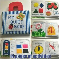 MY QUIET Book Activity Tie Shoe Clock Button Kids Travel Plane Toy Gift Cloth